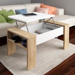 Mesa de centro elevable, mesita comedor salon, mesa auxiliar, Andrea ...