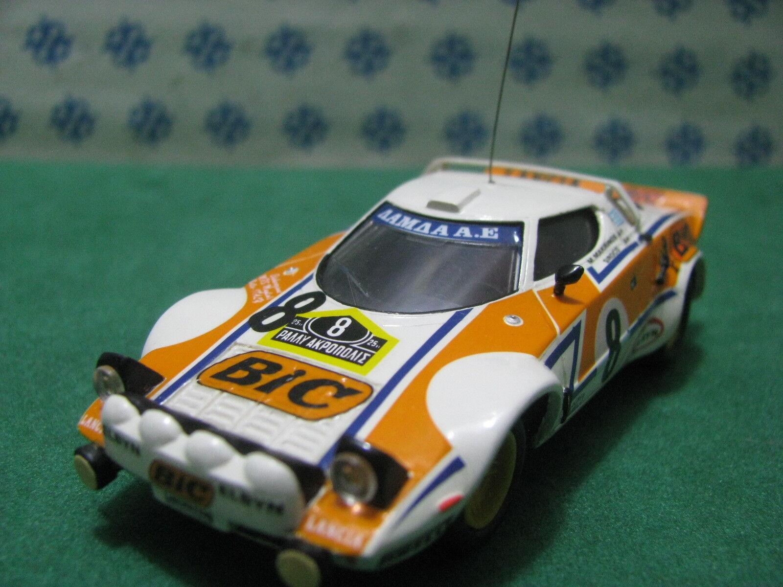 Vintage - LANCE STRATOS 8° Rally Grecia - 1 43 Elab. base Solido
