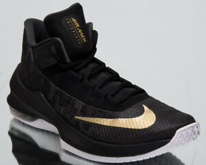 7dcacb7f9f Nike Air Max Infuriate 2 Mid New Men's Basketball Shoes Black Gold ...
