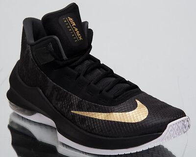 Nike Air Max infuriate 2 Mid Nuevos Zapatos de baloncesto para hombre de oro negro AA7066 002 | eBay