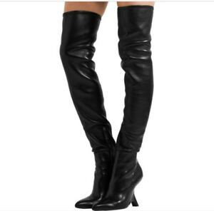 198a915b1a98 $2790 TOM FORD Leather over-the-knee boots,Black-NIB SZE 37.5 | eBay