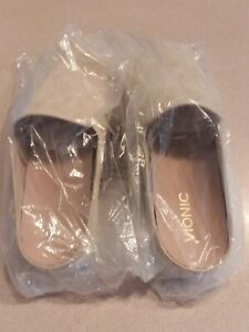 NEW-Dakota-Mules-Size-8-5-GOLD-Slip-On-Shoes-Leather-Casual-Comfort