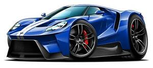 Image Is Loading  Ford Gt Exotic Car Car Toon Wall