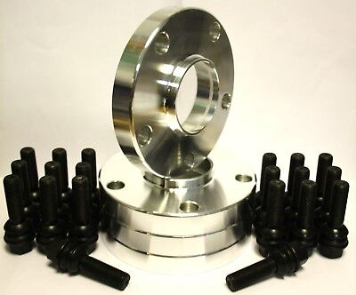 BOLTS FIT FOR VW T5 T6 AMAROK 4 X 15MM ALLOY WHEEL SPACERS BLACK 72.6-65.1