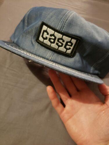 Vintage 80s Case Denim Patch Snapback Denim Hat Ca