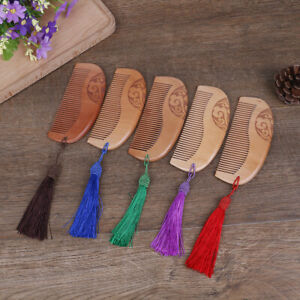 1X-Vintage-Sandalwood-Anti-static-Carved-Natural-Double-Wide-Massage-Hair-Comb