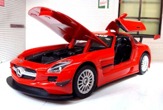 modellauto mercedes sls amg gt3 1 24 g nstig kaufen ebay. Black Bedroom Furniture Sets. Home Design Ideas