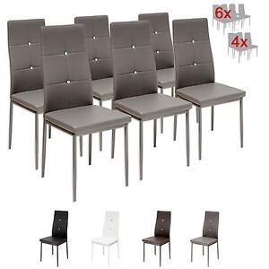 Das Bild Wird Geladen 6 X Esszimmerstuehle DIAMOND Grau Esszimmerstuhl  Kuechenstuhl Stuhl