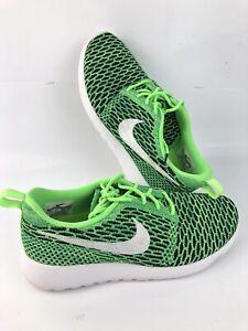 Diariamente Inspiración aprendiz  Nike flyknit roshe run para hombres talla 10.5, Verde Neón | eBay