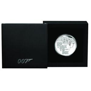 Silbermuenze-James-Bond-007-2020-No-Time-To-Die-1-oz-in-Polierte-Platte