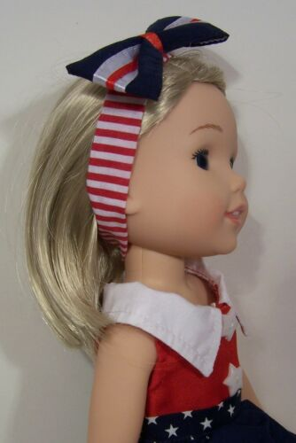 July 4th American Flag Dress Doll Clothes For AG 14 Wellie Wisher Wishers Debs