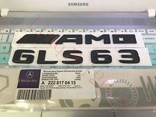 Chrome Letters Trunk Emblem Badge Sticker for Mercedes Benz GLS63 AMG 2017-2019