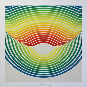 Herbert Oehm-Swing Big Drop. mano firmati colore SERIGRAFIA, domberger pressione.