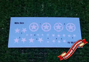Allied stars model decals 1//100 Foxbot 100-003 Decal White Stars
