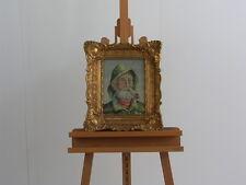 Schelllack Bilderrahmen Holz Jesus Petite Point Bild Stickbild Gobelin