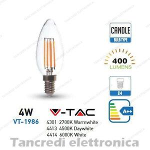 Lampadina-led-V-TAC-4W-40W-E14-VT-1986-a-candela-filamento-lampada-lampadine