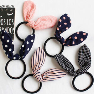 Cute Women Flower Rubber Bands Elastic Hair Band Hair Ties Bow For
