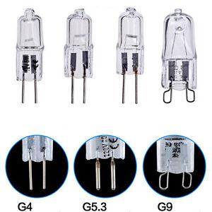 New-G4-G9-12V-220V-10w-20w-25w-40w-60w-Halogen-Light-Bulb-Capsule-Lamp-Lighting