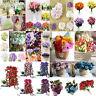Silk Flower Bouquet Rose Lavender Peony Handmade Hydrangea Bridal Wedding Party