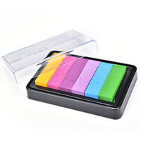 Gradient Oil Based Ink pad Signet For Paper Wood Craft Rubber Stamp 5 Color TO