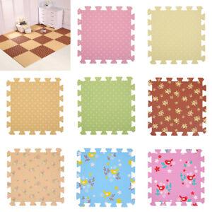 9 Pieces Foam Mat Floor Tiles Kids Play Mats Puzzle Mat 30 30cm Ebay