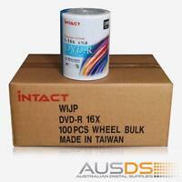 500 X Intact Dvd Blank Disc Media - Printable Dvd-r Discs Matt - 16x Burn - 100p