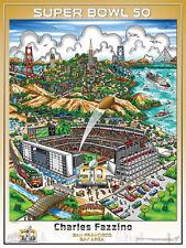 SUPER BOWL 50 San Francisco Levi's Stadium Official Pop Art POSTER by Fazzino
