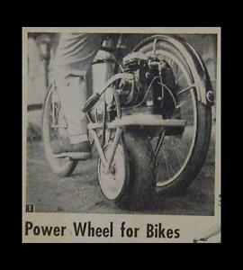 Power Wheel for Bicycle Bike or Wagon 1953 How-To build PLANS