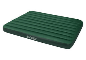 Intex-Queen-Downy-Air-Bed-Camping-Inflatable-Mattress-w-Air-Pump-66929E