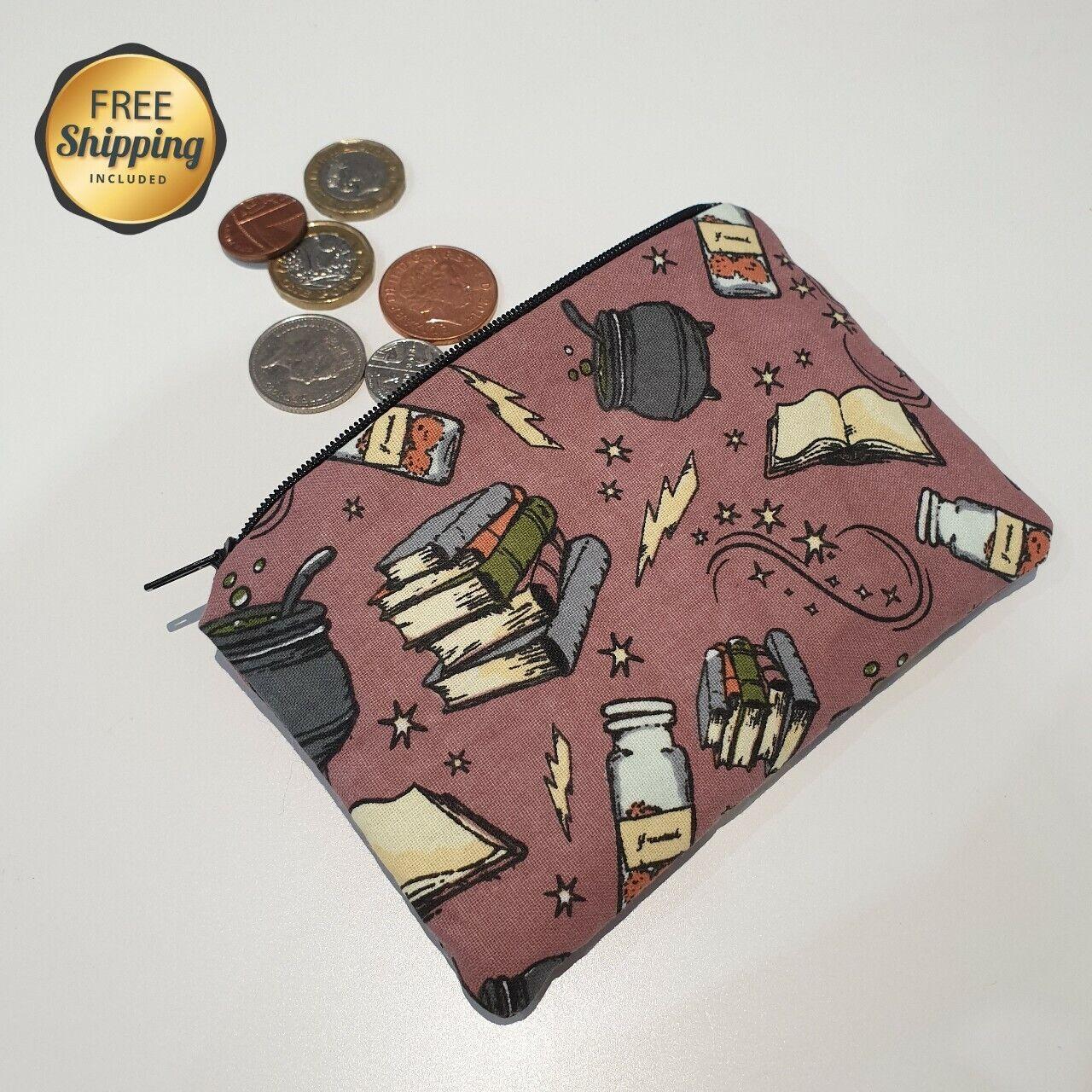 handmade harry potter purple magic coin purse pouch gift present