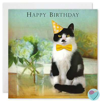 To From Pet Cat White Personalised Birthday Card