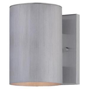 Minka Lavery Skyline 1-Light Brushed Aluminum Outdoor Wall Mount Lantern 534