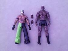 "1/6 scale WWE Rey Mysterio and Bobby Lashley 12"" figures Maximum Aggression"