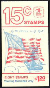 SC-BK130-1598a-15c-Fort-McHenry-Flag-Booklet-of-8-MNH