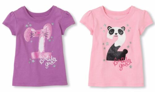 NWT Children/'s Place Birthday Girl Shirt Top Tee 1st 2nd Birthday 1 2 Year Old