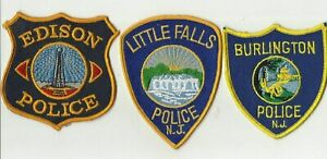 Edison-Little-Falls-Burlington-NEW-JERSEY-Police-Patches