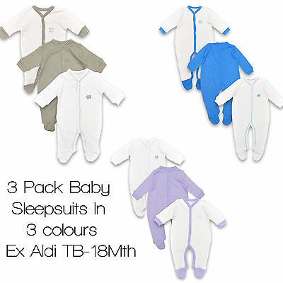 Babygrows Sleepsuits Boy Girl Baby 100/% Cotton Bodysuit Playsuit 3 Pack