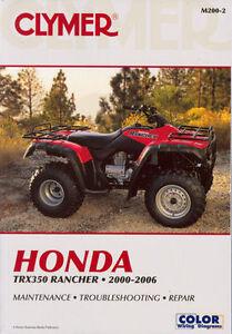 honda rancher trx350 trx 350 s es 2wd 4wd 4x4 00 01 02 03 04 05 06 rh ebay com honda rancher 350 shop manual honda trx 350 repair manual free