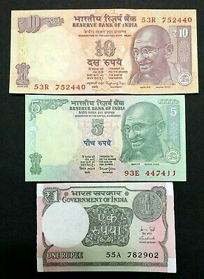 India 5 Rupees GANDHI Banknote World Paper Money UNC Currency Bill Note