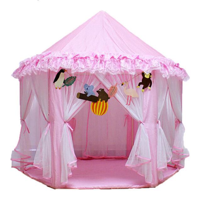 Play Tent Princess Castle Children Kids Play House Activity Portable Fairy House