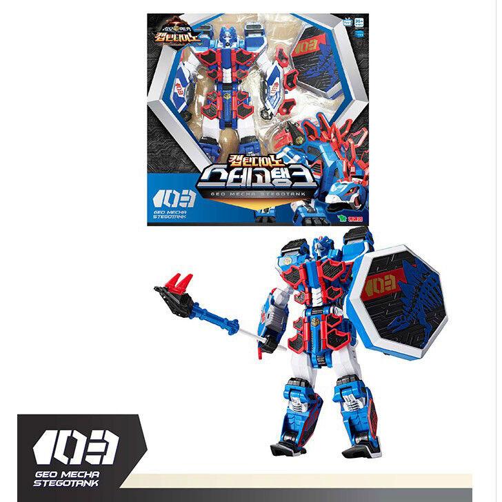 GEO Mecha CAPITANO DINO stegotank Transformer Robot Giocattolo azione cifra Nuovo
