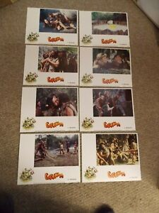 """CAVEMAN(1981)RINGO STARR SET OF 8 DIFFERENT ORIGINAL 11""""BY14"""" LOBBY CARDS"""