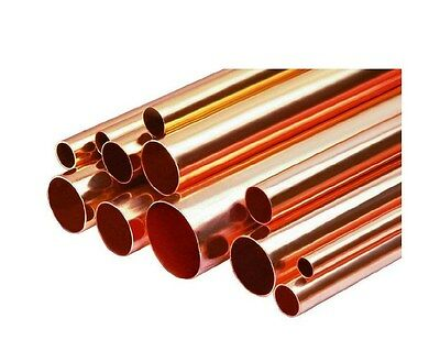 "5/8"" Diameter Type L Copper Pipe/Tube x 1' Length"