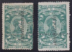 MEXICO, 1893-94. Revenue Durango Stamp Tax DU72Bv, Mint