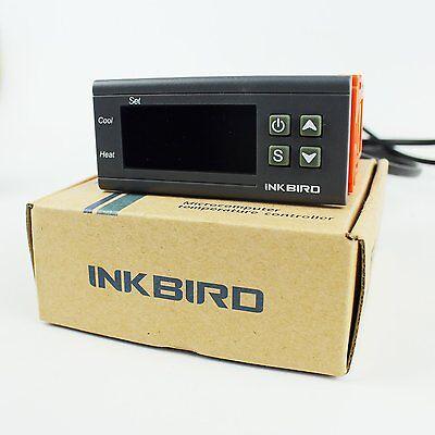 Chaleur Inkbird Digital température contrôleur 2 relais sortie Thermostat 220V