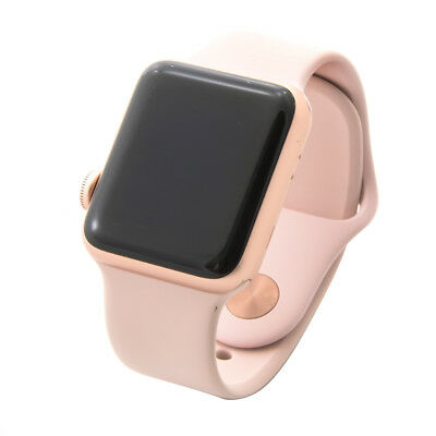 Apple Watch Series 3 38mm Gps Gold Aluminum Case With Pink Sport Band Mqkw2ll A 603784268378 Ebay