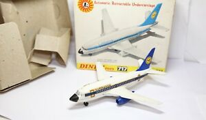 DINKY-717-BOEING-737-LUFTHANSA-JET-PLANE-nella-sua-scatola-originale-Quasi-Nuovo