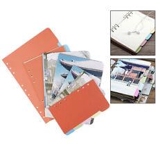 A5 A6 B5 Inner Page Organizer Notebook Index Separator 6 Holes Divider Pijushru