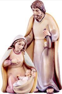 Escultura Artis Natividad Sagrada Familia CM 12 IN Madera De en Val Gardena
