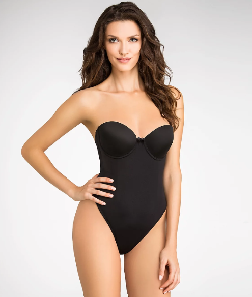 8dac274744209 VA Bien 1509 Low Back Seamless Thong Bodysuit 34b Black for sale ...